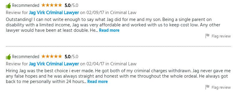 Reviews | Jag Virk Criminal Lawyer